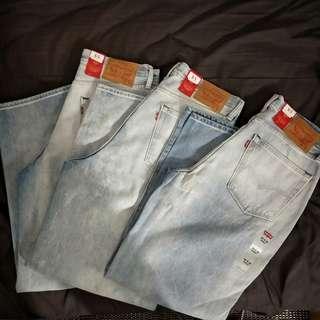 Levi's baggy fit 水洗牛仔褲