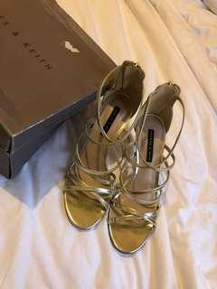 Charles n keith gold shoe