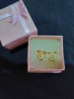 Bangkok Gold Heart Stud Earrings