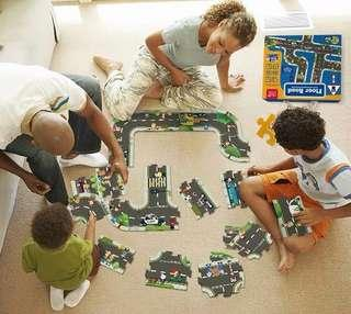 TOI ROAD PUZZLE FLOOR PUZZLE GIANT JUMBO PRESCHOOL HOMESCHOOL BUILD YOUR OWN TRACK LAYOUT GIANT ROAD SYSTEM FOR CARS TRUCKS VEHICLES BIRTHDAY GIFT