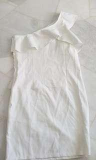🚚 Clearance Ruffle Slant Dress (Free Mailing)