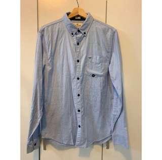 🚚 Hollister淺藍襯衫 全新未使用