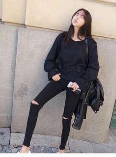 黑色緊身褲長褲