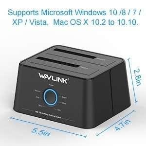 Wavlink dual bay Hard disk