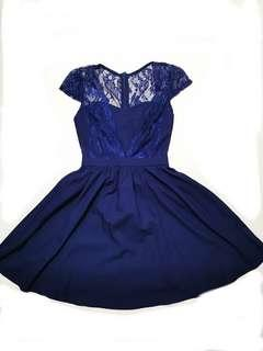 Twenty3 Lace Navy Blue Dress
