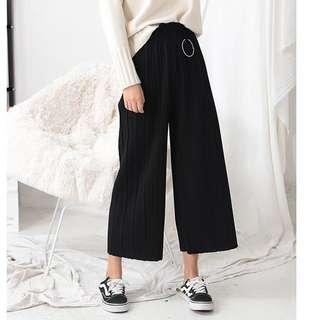 black thick culottes