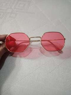 Sunglasses kacamata red golld