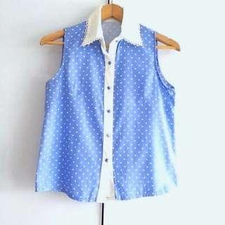 $10 SALE: BN Denim Collared Shirt Top (do you see this marked sold? no. then OBVIOUSLY ITS AVAILABLE)