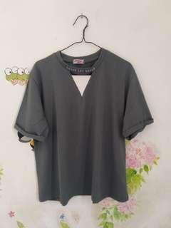 Blouse Grey Never Say Never