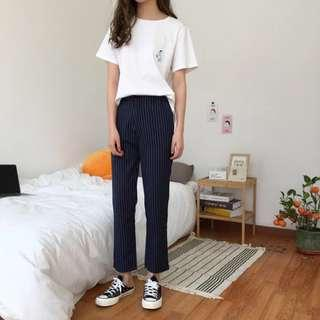 pinstripe long pants
