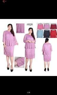 Dress Peplum Jumbo Big Size