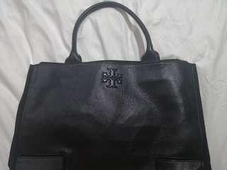 Torchbury leather black tote
