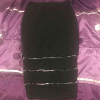 Kookai size 1 black skirt