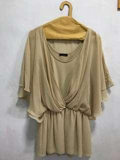 Batwing Blouse Soft Brown