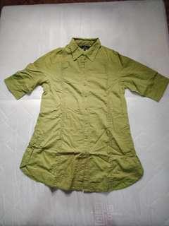 Tunik lengan 3/4 warna hijau lumut