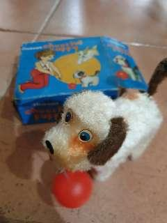 Vintage Winding Cheerful Puppy Toy
