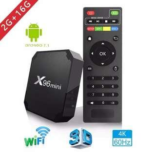 X96 mini tv box WiFi android 7.1 4K 2GB 16GB Amlogic S905W tvbox Quad Core WiFi Media Player smart