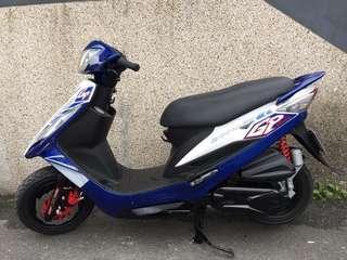 三陽 GP-125 化油/碟剎/白.藍~超優質代步車!結緣價