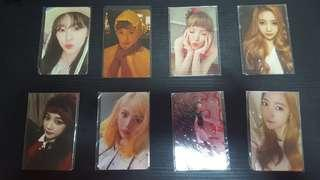 girl group photocards clearance !