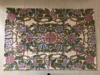 Embroidered Rug /Wall Carpet