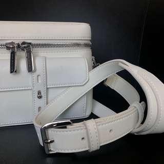 Charles & Keith White Box Bag
