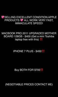 Iphone 7 plus And macbook pro