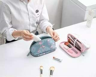 Charming portable double layer Cosmetic Pouch / Tas Kosmetik