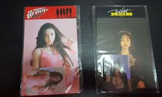 red velvet joy standee + holographic photocard