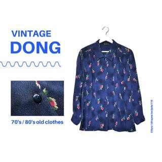 🚚 | 咚 咚 Vintage |日本古著-水幻情深長袖襯衫
