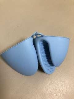 隔熱手指套1對天藍色
