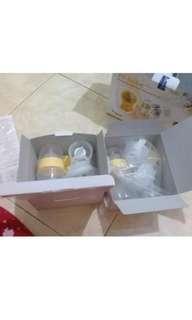 Pompa Asi elektrik double breast pump Gea bistos hi-bebe plus 2 corong masih lengkap garansi semuanya nya