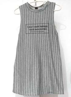 chic sleeveless long shirt