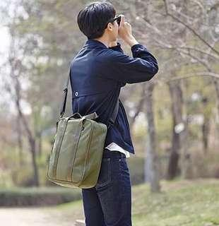 Green Black Korea Style Travel Trunk Bag / Tas Selempang travel universal
