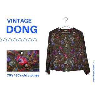 🚚 | 咚 咚 Vintage |法式古著-涔秘仙庭長袖上衣