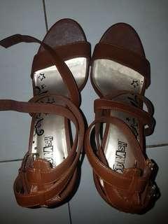 Brown sandal high heels 12cm size 7.5
