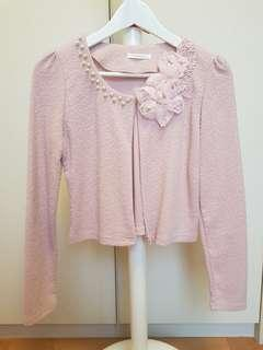 🚚 Almost New Sweet Korean Style Pink Cardigan