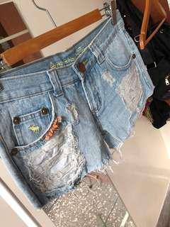 A&F 牛仔短褲