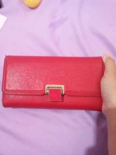 Dompet Charles & Keith Red Wallet