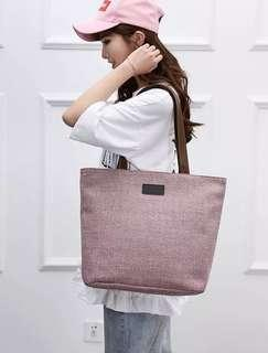 Tas tote bag wanita Heroing Canvas Tote Bag Solid Color