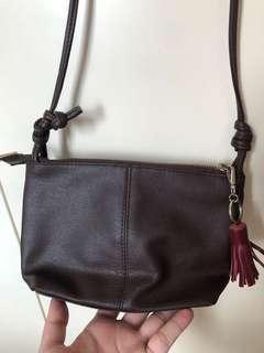 軟皮crossbody bag