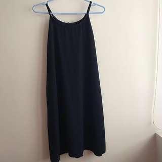 🚚 SSD Navy Blue Halter Dress