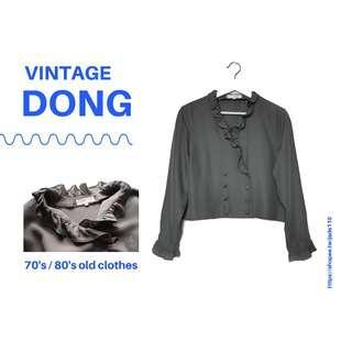 🚚 | 咚 咚 Vintage |韓國古著-薄暮之光長袖上衣