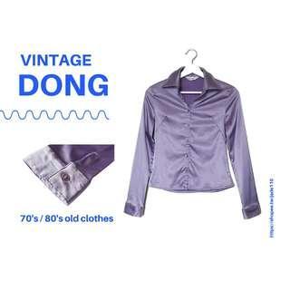 🚚 | 咚 咚 Vintage |法式古著- |半月交響曲|長袖襯衫