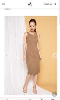 🚚 Allwouldenvy khaki pencil dress size s