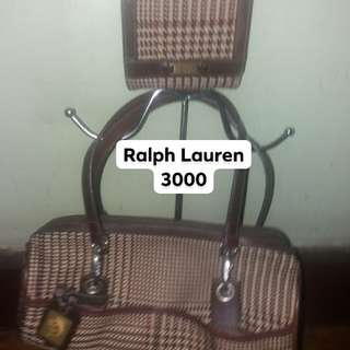 7867ae6df394 Original Set of bag and wallet by Ralph lauren rl polo houndstooth