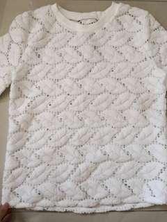 White leaf quater sleeve