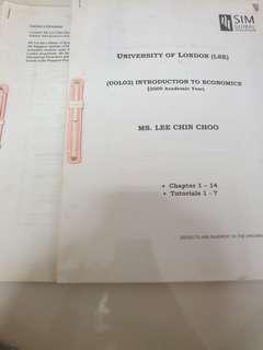 UOL introduction to economics notes