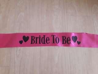 🚚 Bride to be sash