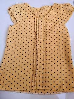 Polka Dots Blouse in Yellow