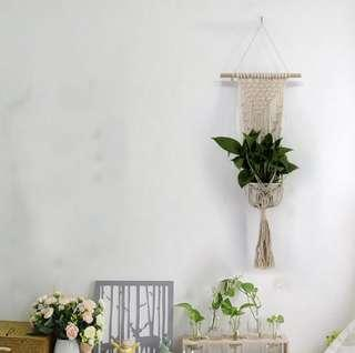 Nordic Hand Woven Tapestry Net for Hanging Plant